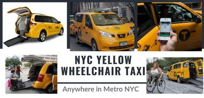nyc yellow cab with wheelchair ramp